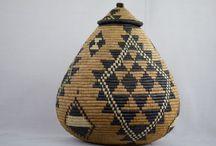 Zulu Lidded Ukhamba Zulu Basket