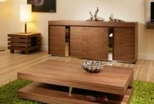 Coffee Tables in Black and white gloss, Walnut, Elm and Black Oak
