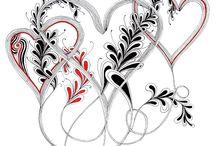 Szív szinező