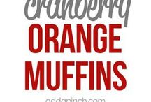 Orange muffinscranbery