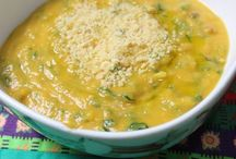 Sopa abóbora e espinafre