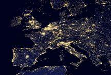 Europa bij nacht!