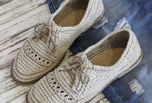 Вязанная обувь и сумки