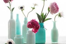PaintRight Colac Painted Vases / Painted Bottles and Jars as Vases