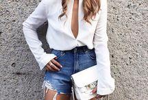 outfit short mezclilla