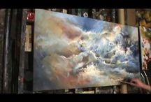Demo acrylic painting