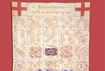 Remember Me ~ Fund Rasing Quilts / Signature quilts were made as a fundraising activity - pay 10 cents to get your name on a quilt, and the finished quilt was raffled.