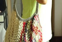 Bags and Purses / Patterns for crocheted and knitted carry alls
