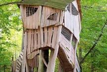 Boomhutten / Dit zijn allemaal prachtige mooie (boom)hutten