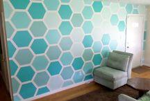 Wall paint pattern