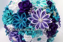 mariage turquoise et violet