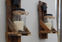 Mason jars candle holders