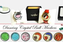 NEW! Dancing Gem Ball Markers / by Navika