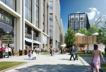 Ruskin Square, Croydon / EOS Facades, working with their client UK Facades, contributed to the construction of a 22 storey residential development within this exciting new district in Croydon.
