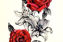 Virágos tetoválások!!! Rózsák!!!