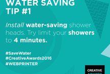 WEBPRINTER Saving Water Tips