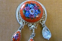russian enamel-finifty(финифть) / by Svetlana Antonova