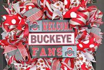 Ohio State Buckeye Wreath