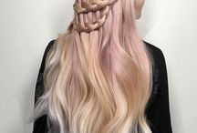 Rose Gold Hair / Blond and rose gold hair