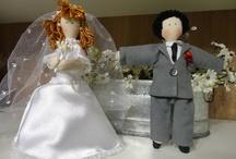 Casal de Noivinhos de Pano / www.raparigaarteira.com.br