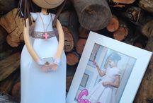 Fofuchas de comunión / Creo fofuchas para comunión, con el mismo vestido o traje para niñas y niños