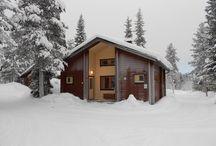 Parvimökit 12 ja 14, cabins 12 and 14 / Parvimökki 75 m2, 12 ja 14. Cabin 75 m2, 12 and 14. Mökki/Cabin 12: 6 + 1 henkilöä/persons. Mökki/Cabin 14: 6 + 2 henkilöä/persons.