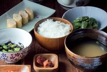 Japanese food and tables and that stuff