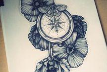 Uhren und Kompass