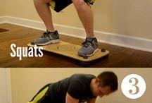 balance board edzés