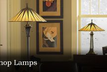 Lamps / When choosing lighting, consider the mood you want to create and the tasks performed in the room. Then choose the appropriate fixtures in a style that complements your decor. Most rooms are used for multiple activities, and the right fixture can help you define zones. In a family room for example, a reading lamp with an opaque shade placed next to a chair targets light for someone reading, while keeping the rest of the room darker for those watching TV.
