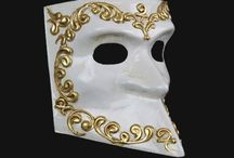 Venetian Comedy Masks / The satiric humor of the Comedy of Art, developed as a response to the political and economic crisis of the 16th century. The characters usually represent popular archetypes like Arlecchino, Pantaleon and Moretta. An historic mask, adds the humor and traditional elegance of the famous Venetian Carnival!