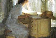 Reading by the window / Чтение у окна