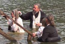 Крещение  в Монастырском озере