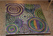 Decorating with Mardi Gras beads