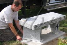 Memorial Benches / JB Newall Memorials Ltd. master craftsmen create custom memorial benches.