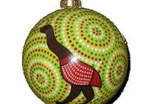Aboriginal design Xmas Decorations / Aboriginal design Xmas Decorations