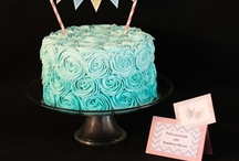 Cake - Turquoise & Aqua