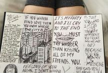 Journal handwritten and drawings