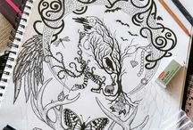 MY ARTWORK - Hand Drawn Illustration & Digital Art / Progress shots & Finished Pieces