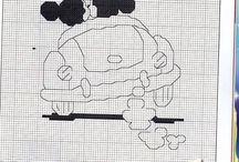 Cross stitch mickey minnie