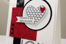 Card / Box - With Love / Hearts a Flutter / Valentine / Hochzeit