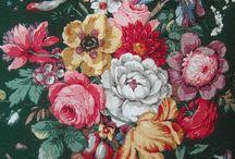 vintage flower birds...
