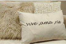 almohadones con frases / @manquedeco