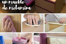 tutorial para pintar muebles de Melamina
