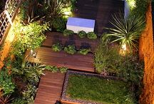Backyard walkway deck