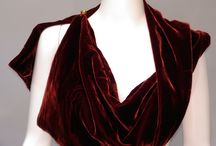 Velvet Collar Scarves / These studio-made scarves were a big hit over the holidays. People bought them as gifts and to compliment their own outfits.