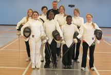 Groups & Teams Together / Group shots of current and past fencing students.