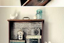 decoração com coisas De madeira