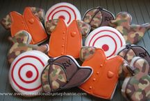 """-- C O O K I E S * f o r h i m -- / sugar cookies designed for those into hunting, fishing and other """"manly things"""""""