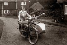 1920's Women on Bikes